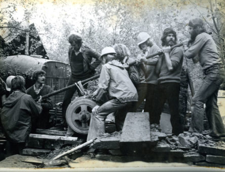 installing the first hydro turbine at CAT