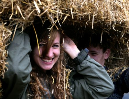 Straw Bale Building at CAT